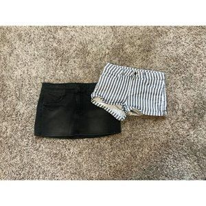 American Eagle Stretch Skirt and H&M Stripe Size 2